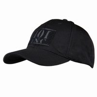 Polyester Cap with Velcro for sponsor patch Black