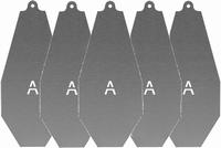 A-koestisch oefen target set van 5 ( Alleen voor Airsoft )