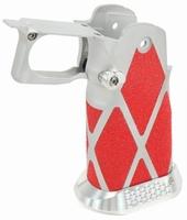 Silver alloy Hi-Capa Grip with Diamond shaped skatertape