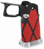 Black alloy Hi-Capa Grip with Diamond shaped skatertape