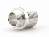 Alloy Threaded adaptor for Threaded outerbarrel Silver