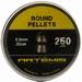 Airgun pellets Artemis Artemis Round 5.5 mm 16.6 grain